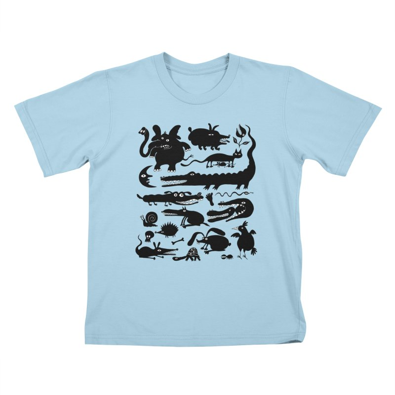 Creatures II Kids T-Shirt by Ermina Takenova