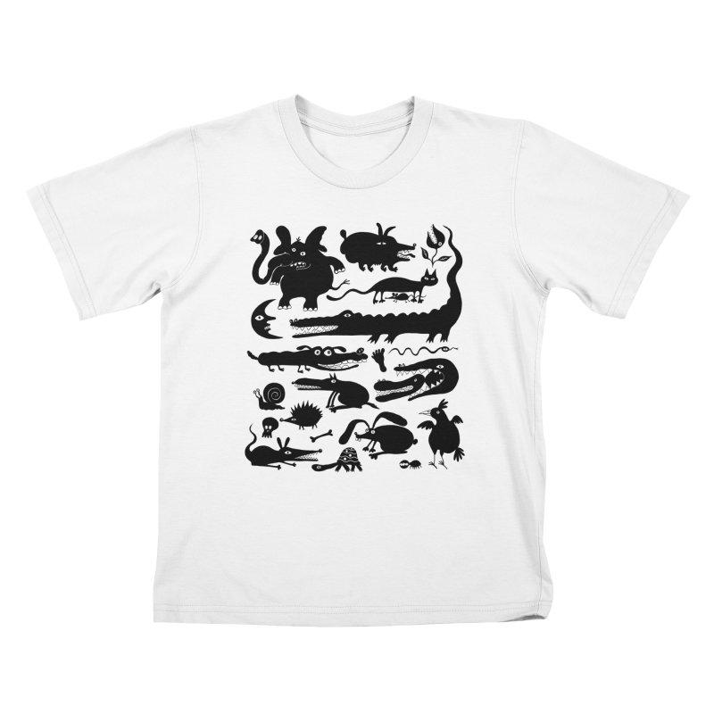Creatures II Kids T-Shirt by Ermina Takenova