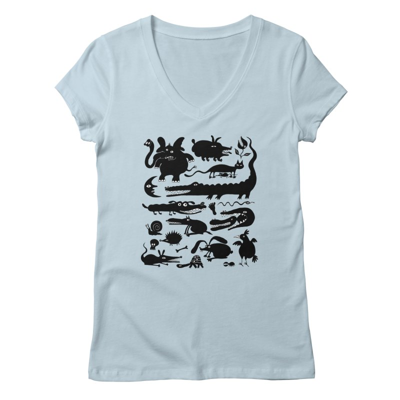 Creatures II Women's V-Neck by Ermina Takenova