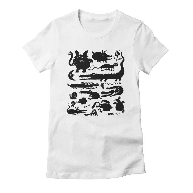 Creatures II Women's Fitted T-Shirt by Ermina Takenova