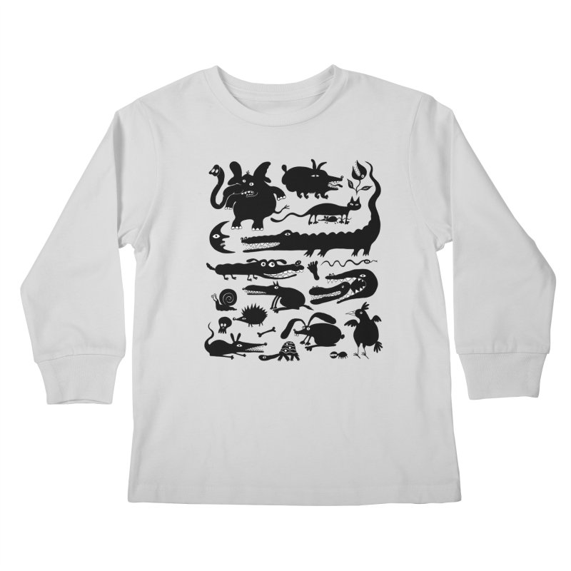 Creatures II Kids Longsleeve T-Shirt by Ermina Takenova