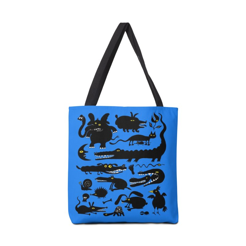 Creatures Blue Tote Bag Accessories Bag by Ermina Takenova