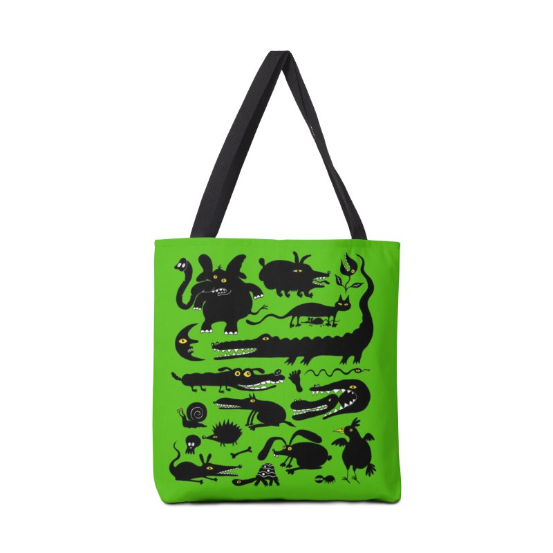 Creatures Green Tote Bag Accessories Bag by Ermina Takenova
