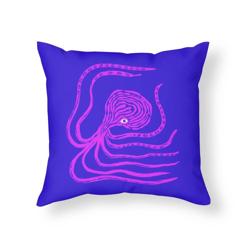 Octopus Pillow Home Throw Pillow by Ermina Takenova