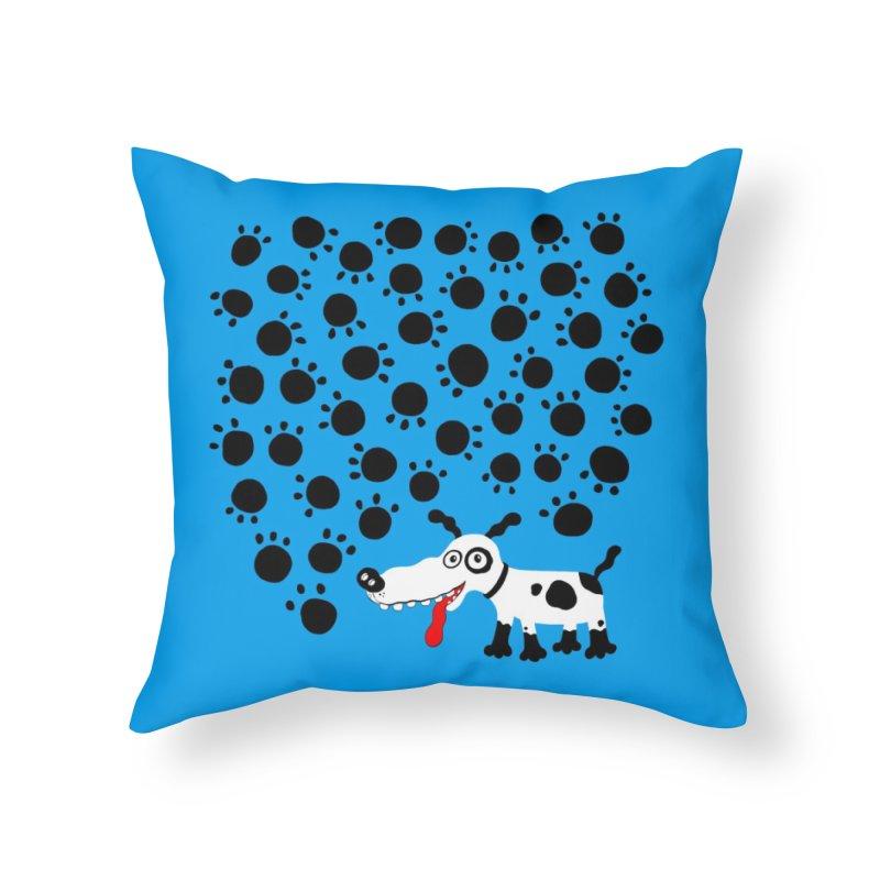 Paws Home Throw Pillow by Ermina Takenova