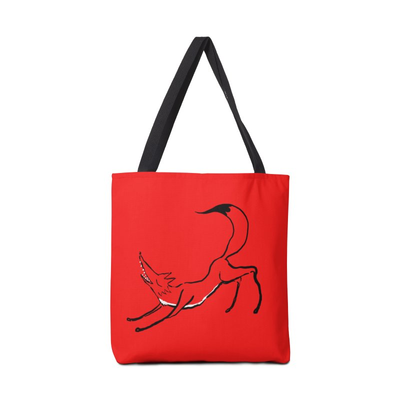 Downward Fox Accessories Bag by Ermina Takenova