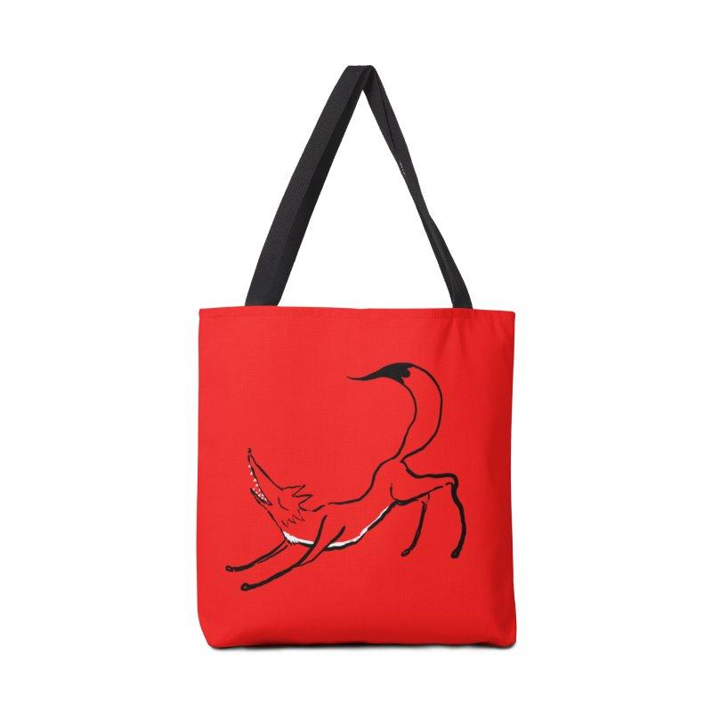 Downward Fox Accessories Tote Bag Bag by Ermina Takenova