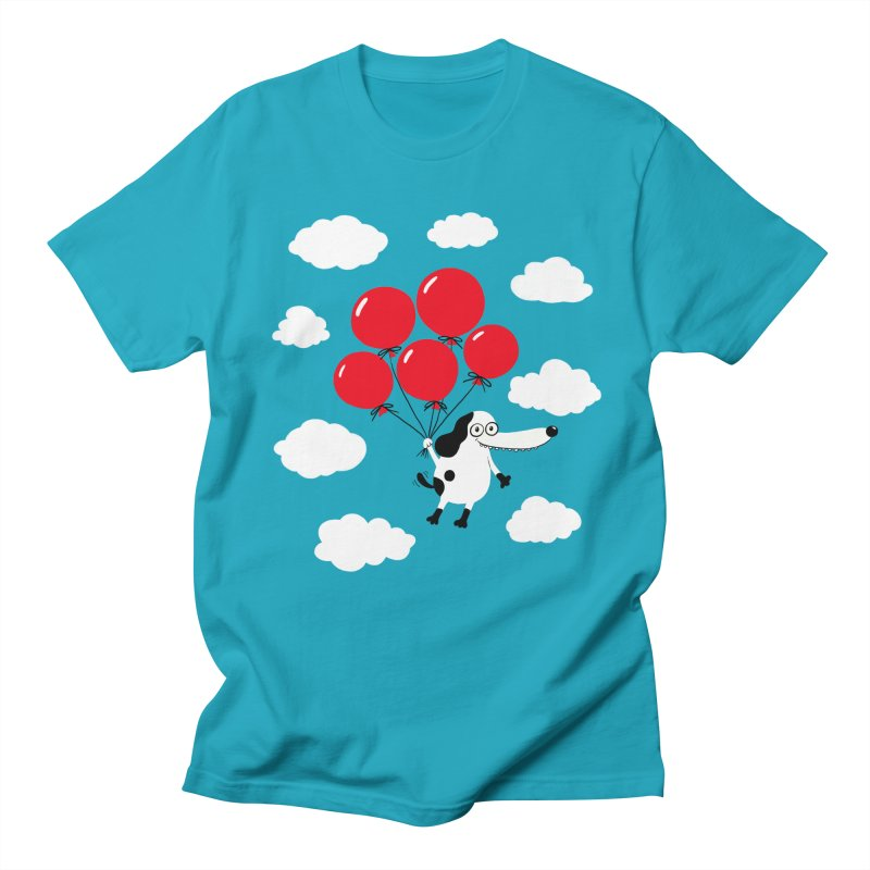 Flying Dog Men's Regular T-Shirt by Ermina Takenova