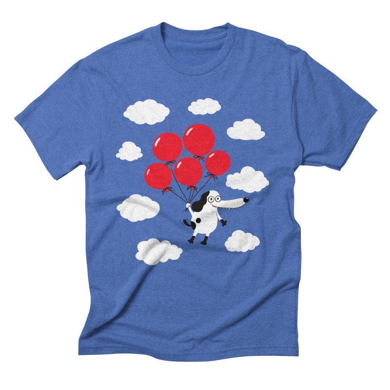 Flying Dog Men's Triblend T-Shirt by Ermina Takenova