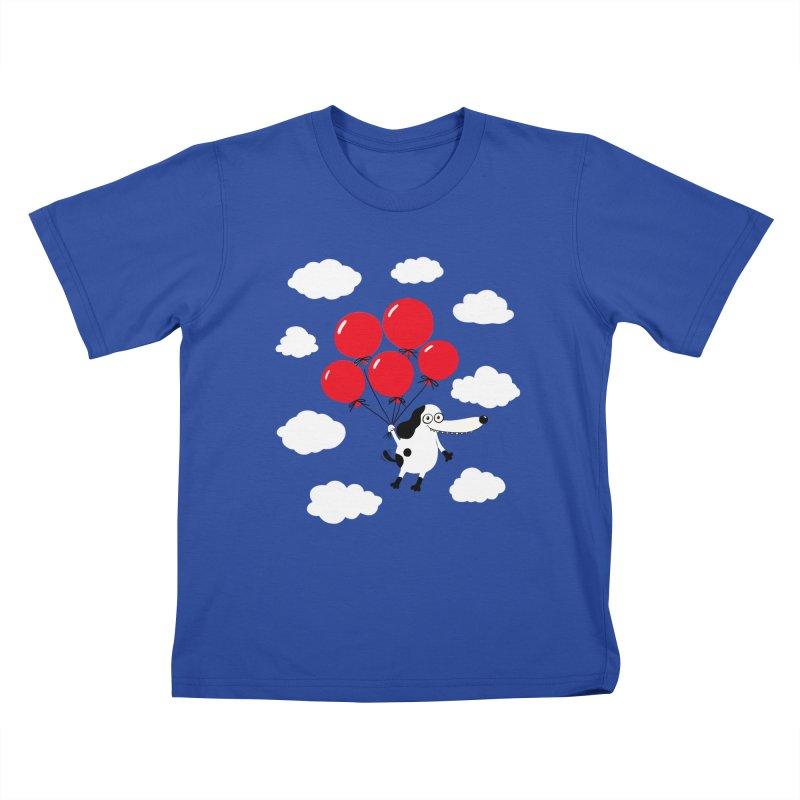 Flying Dog Kids T-Shirt by Ermina Takenova