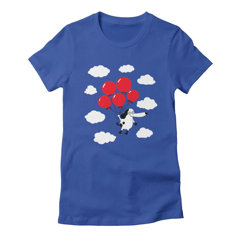Flying Dog Women's Fitted T-Shirt by Ermina Takenova