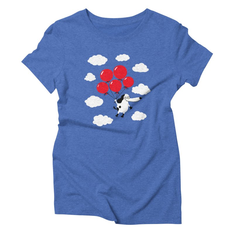 Flying Dog Women's Triblend T-Shirt by Ermina Takenova