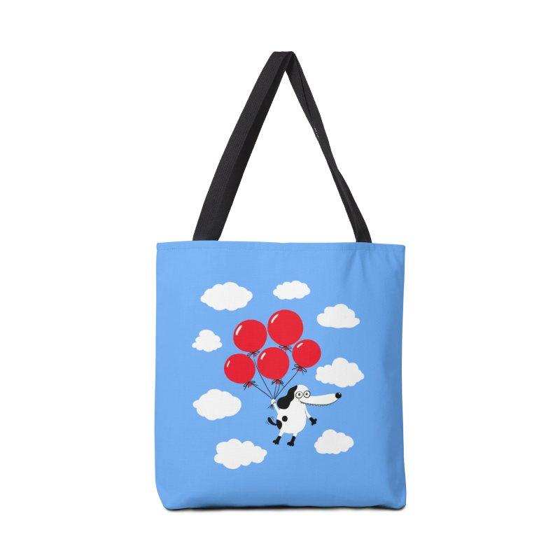 Flying Dog Accessories Tote Bag Bag by Ermina Takenova