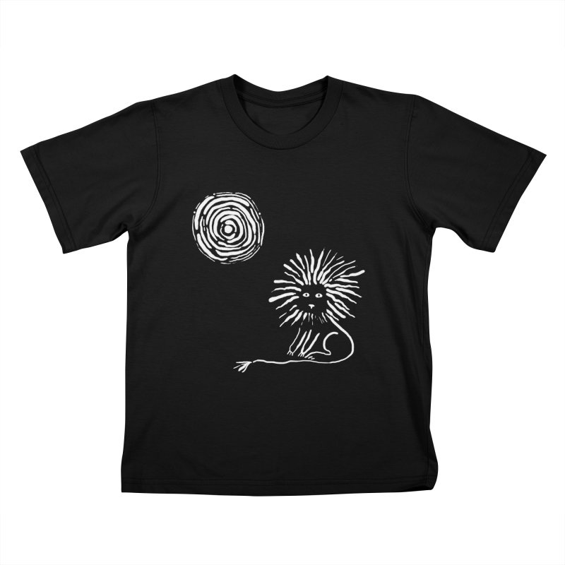 Lion in the Sun Kids T-Shirt by Ermina Takenova