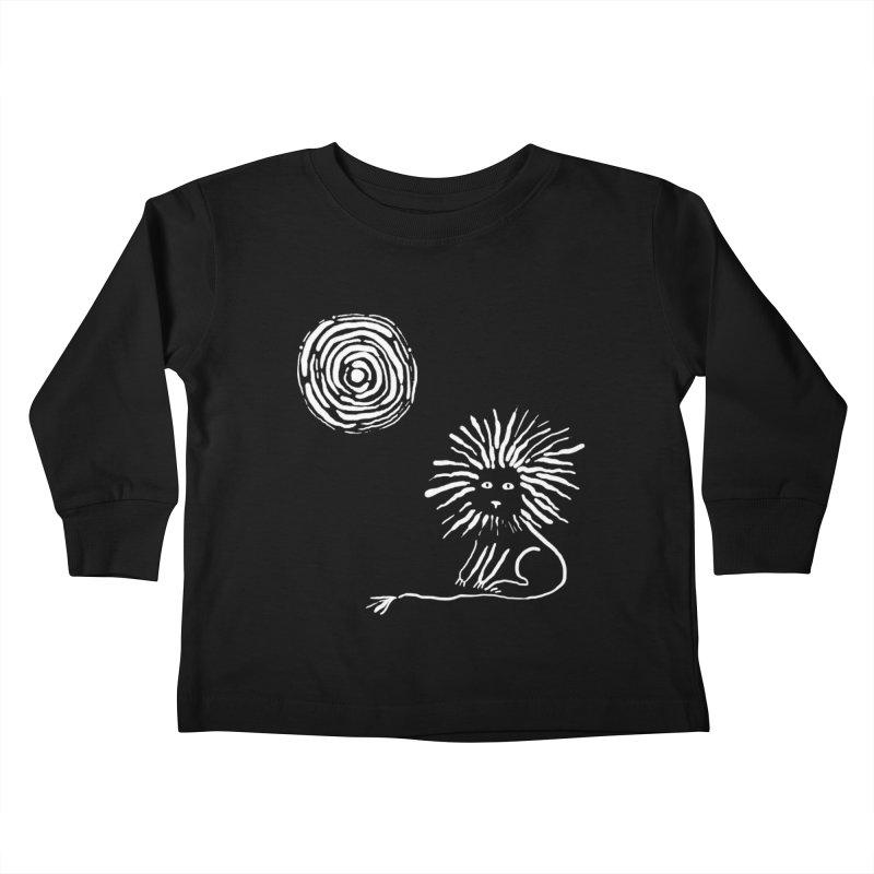 Lion in the Sun Kids Toddler Longsleeve T-Shirt by Ermina Takenova