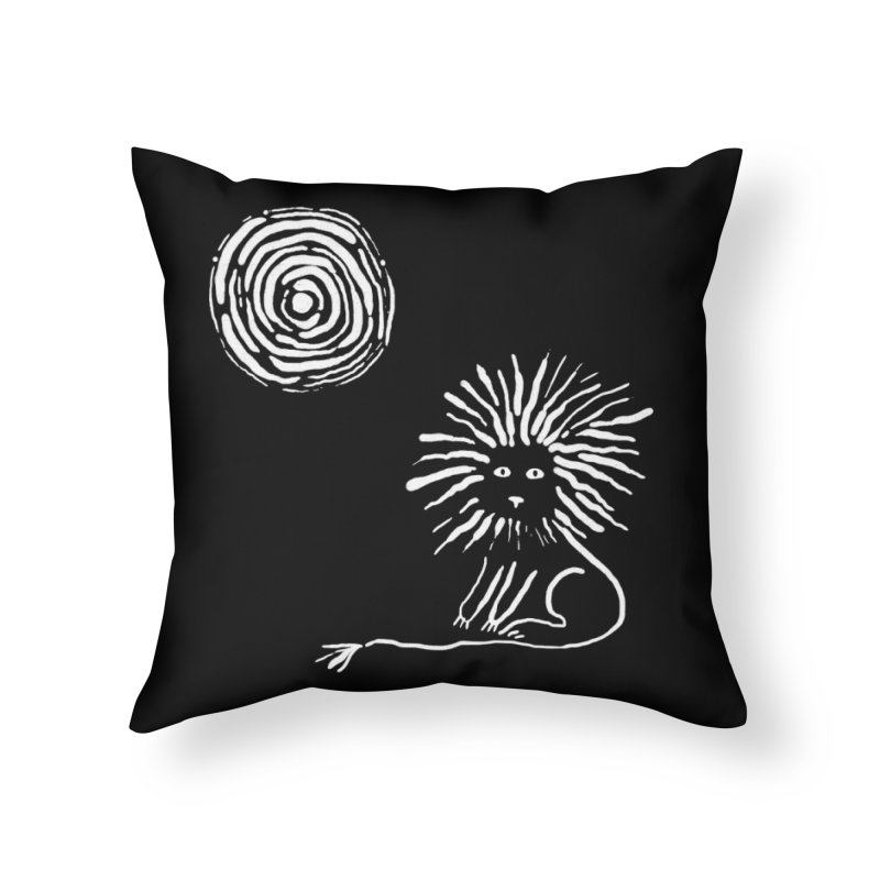 Lion in the Sun Home Throw Pillow by Ermina Takenova