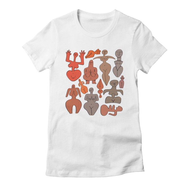 Venuses I Women's Fitted T-Shirt by Ermina Takenova