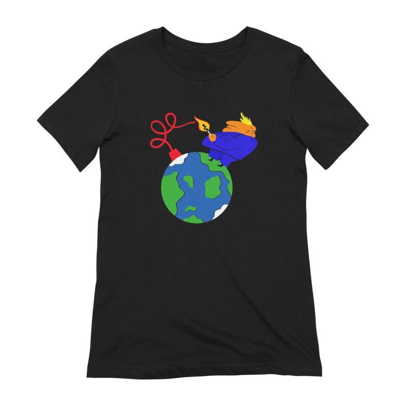 Earth in Danger Women's Extra Soft T-Shirt by Ermina Takenova