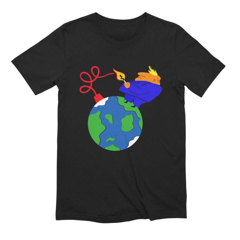 Earth in Danger Men's Extra Soft T-Shirt by Ermina Takenova