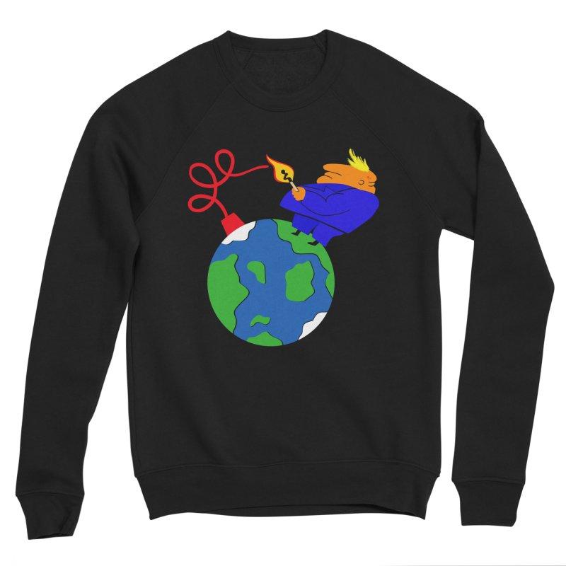 Earth in Danger Men's Sponge Fleece Sweatshirt by Ermina Takenova