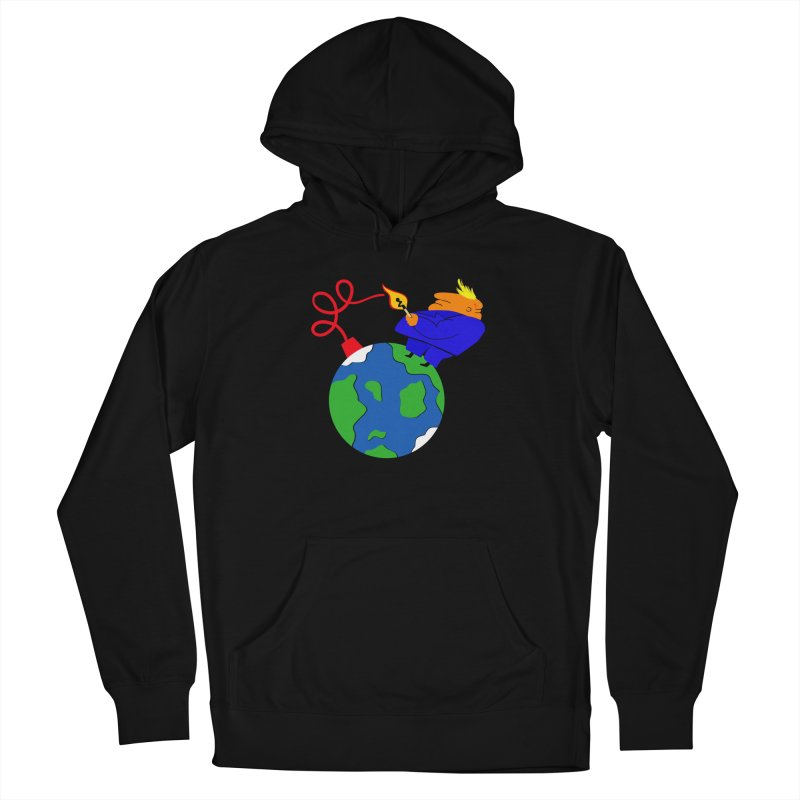 Earth in Danger Men's French Terry Pullover Hoody by Ermina Takenova