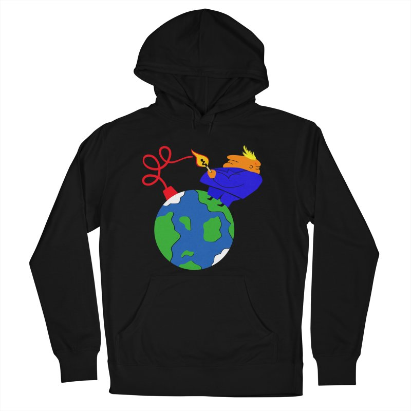 Earth in Danger Women's French Terry Pullover Hoody by Ermina Takenova