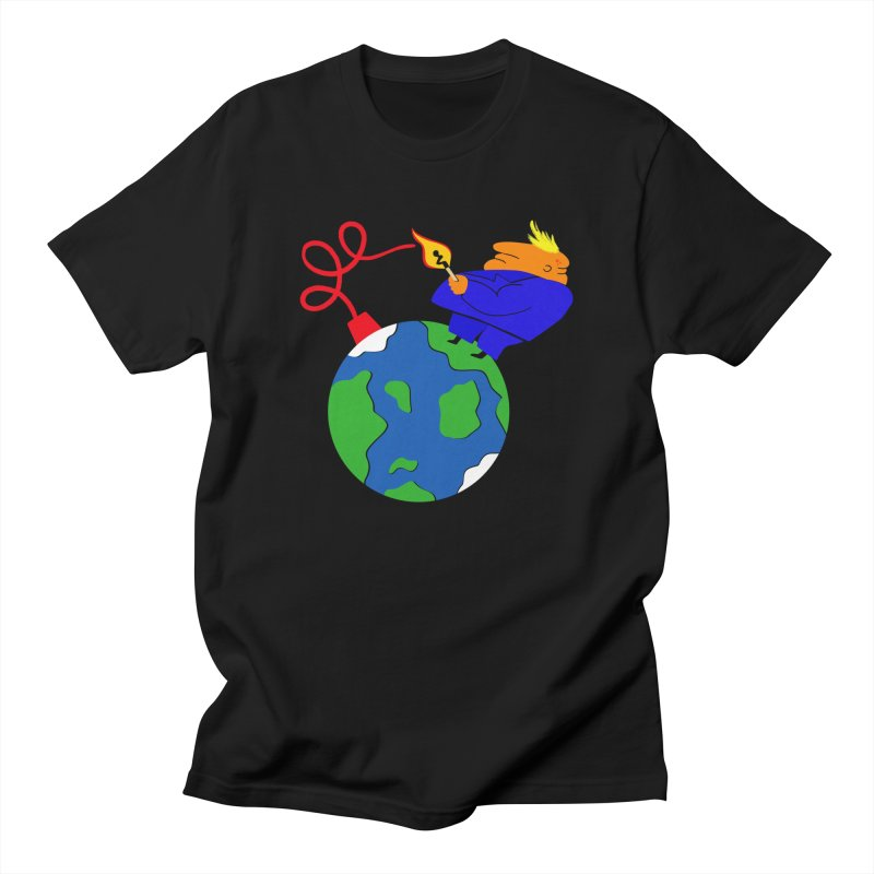 Earth in Danger Men's T-Shirt by Ermina Takenova