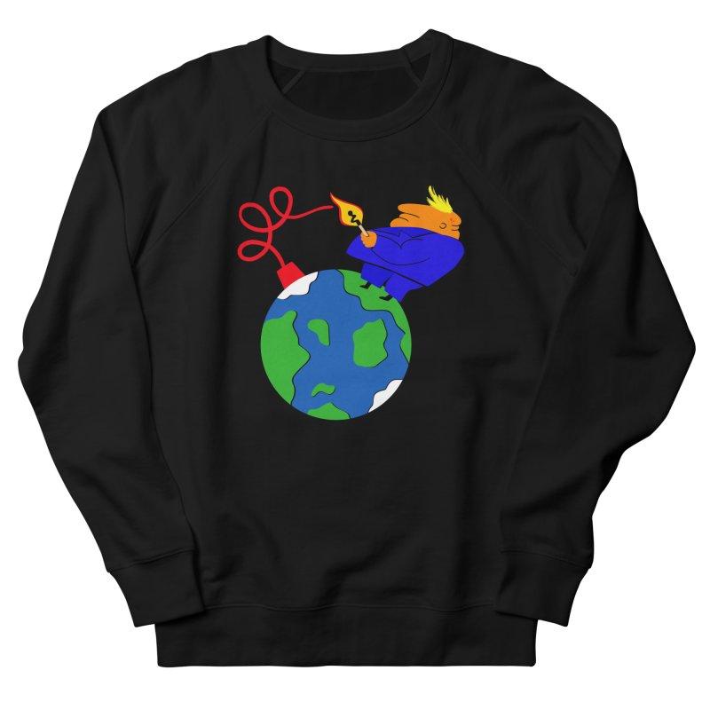 Earth in Danger Men's French Terry Sweatshirt by Ermina Takenova