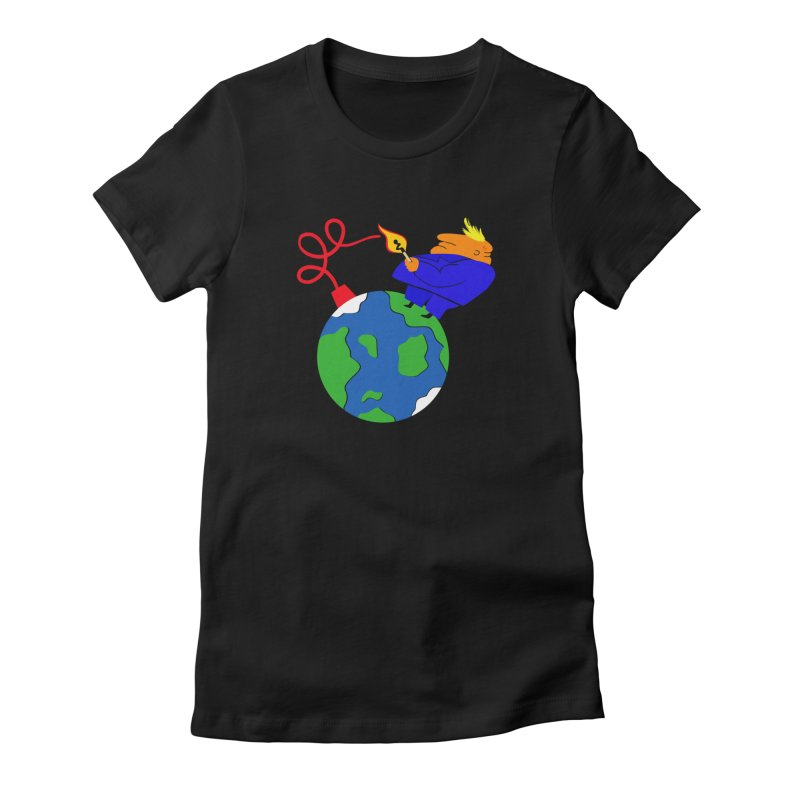 Earth in Danger Women's Fitted T-Shirt by Ermina Takenova