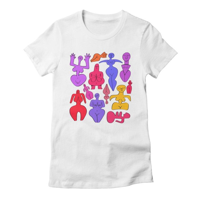 Venuses II Women's Fitted T-Shirt by Ermina Takenova