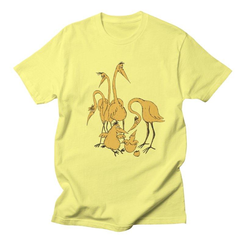 Bird Family Love Men's T-Shirt by Ermina Takenova