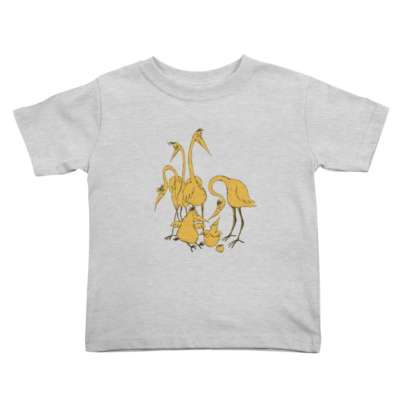 Bird Family Love Kids Toddler T-Shirt by Ermina Takenova