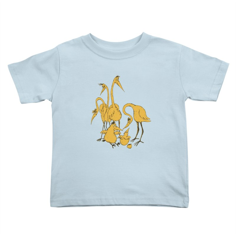 Bird Family Love Kids Toddler T-Shirt by Ermina Takenova