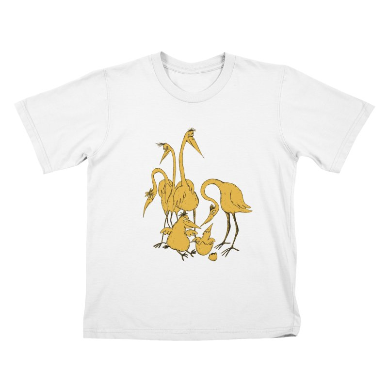 Bird Family Love Kids T-shirt by Ermina Takenova