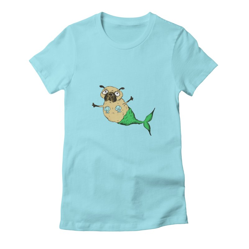 Pugmaid Women's Fitted T-Shirt by Ermina Takenova