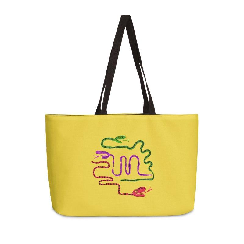 Snake Party Accessories Weekender Bag Bag by Ermina Takenova