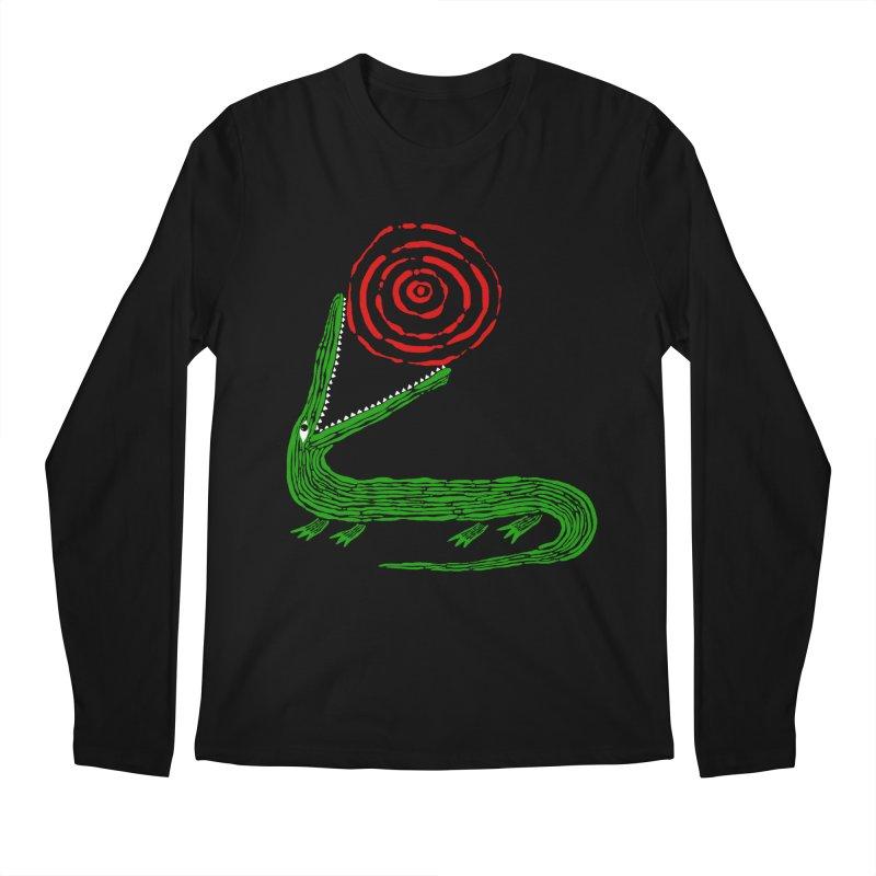 Crocodile Sun Men's Longsleeve T-Shirt by Ermina Takenova