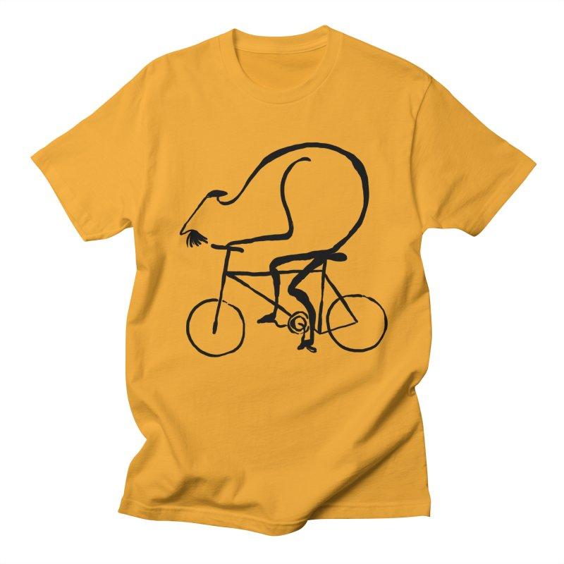 Cyclist Men's T-shirt by Ermina Takenova