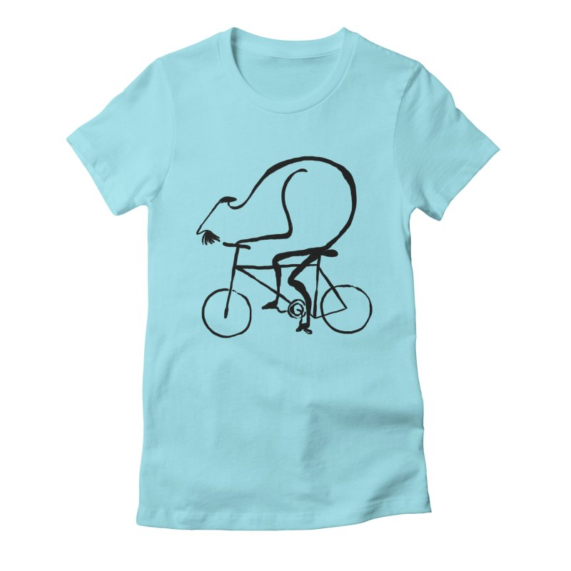 Cyclist Women's Fitted T-Shirt by Ermina Takenova