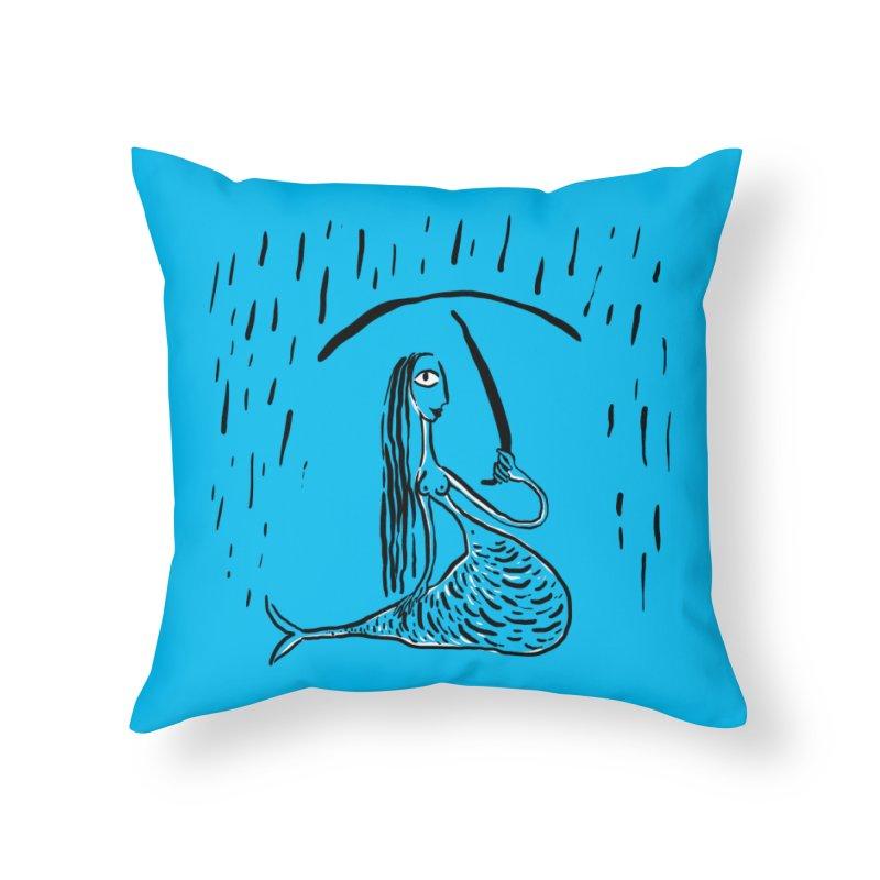 Mermaid Home Throw Pillow by Ermina Takenova