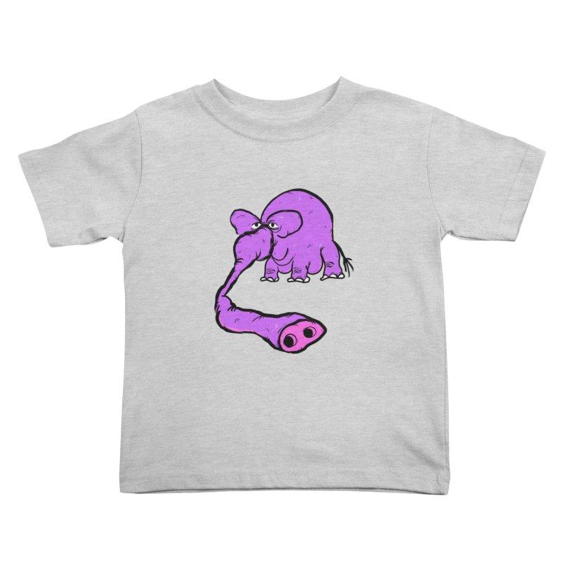 Purple Elephant Kids Toddler T-Shirt by Ermina Takenova