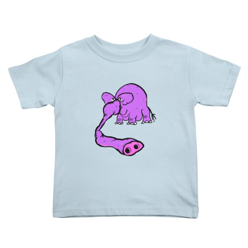 Purple Elephant Kids Toddler T-Shirt by Ermina Takenova