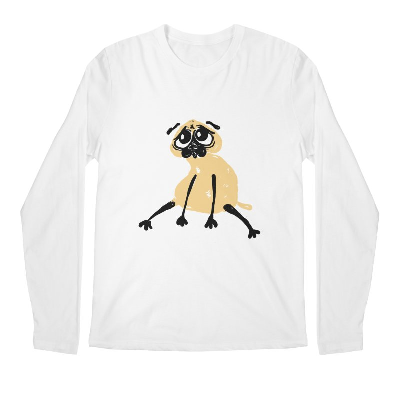 Sad Pug Men's Longsleeve T-Shirt by Ermina Takenova