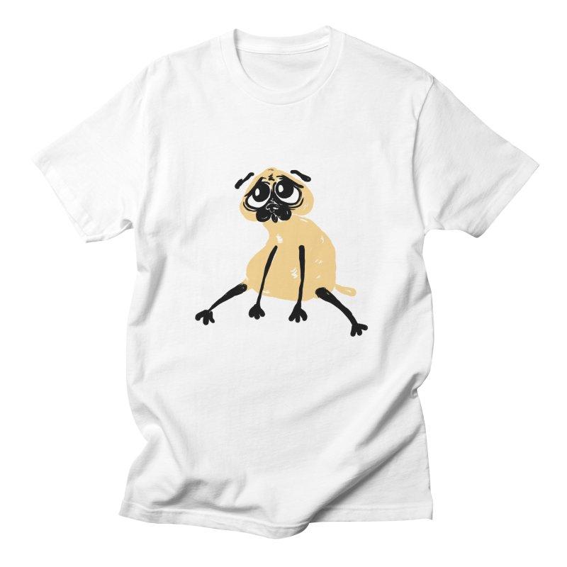 Sad Pug Men's T-Shirt by Ermina Takenova