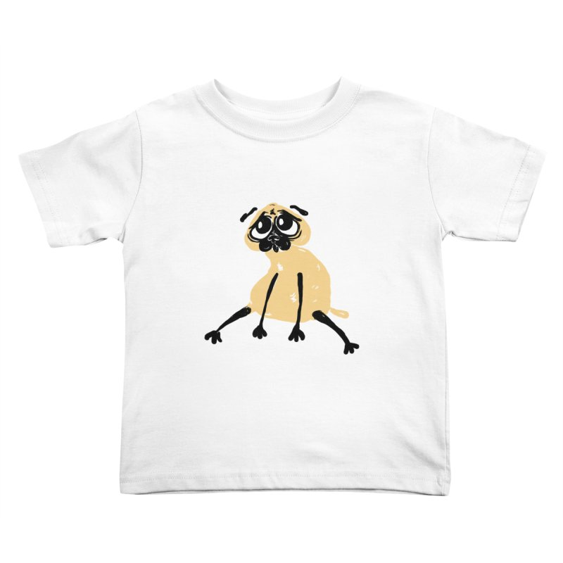 Sad Pug Kids Toddler T-Shirt by Ermina Takenova