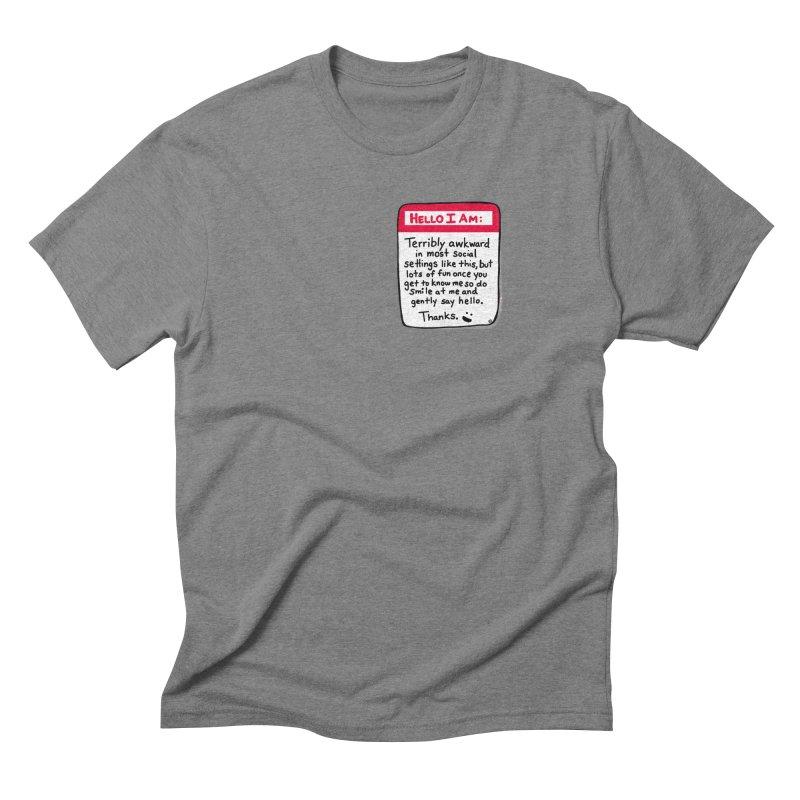 Hello I Am Men's T-Shirt by ernio's art Shop ⓔ