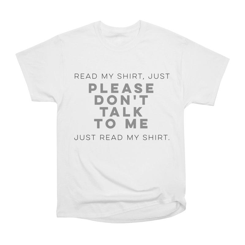 Introvert Anti-Social Survival Shirt Women's Classic Unisex T-Shirt by ernio's art Shop ⓔ