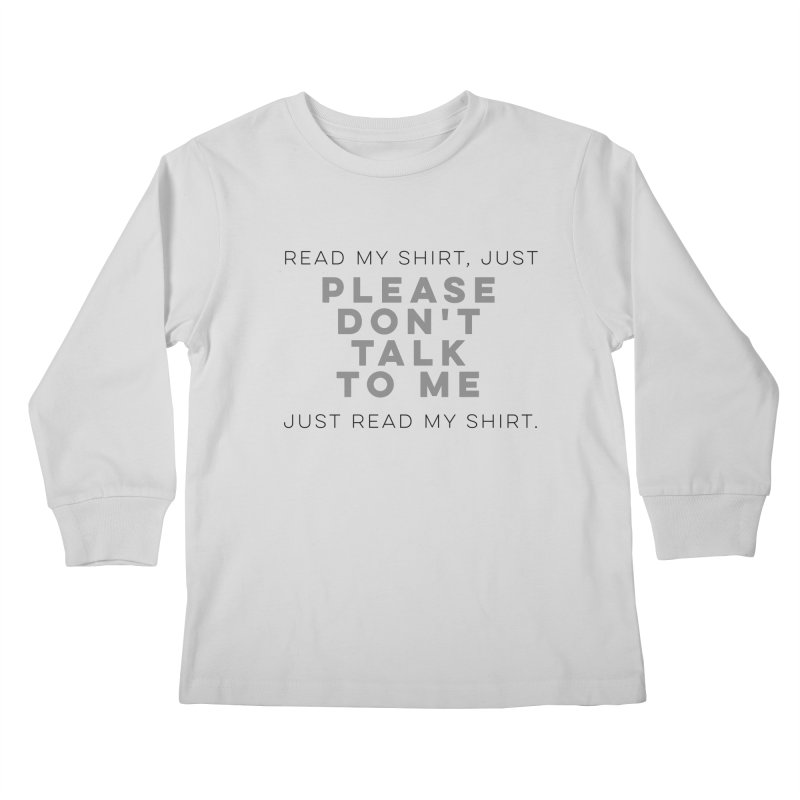 Introvert Anti-Social Survival Shirt Kids Longsleeve T-Shirt by ernio's art Shop ⓔ