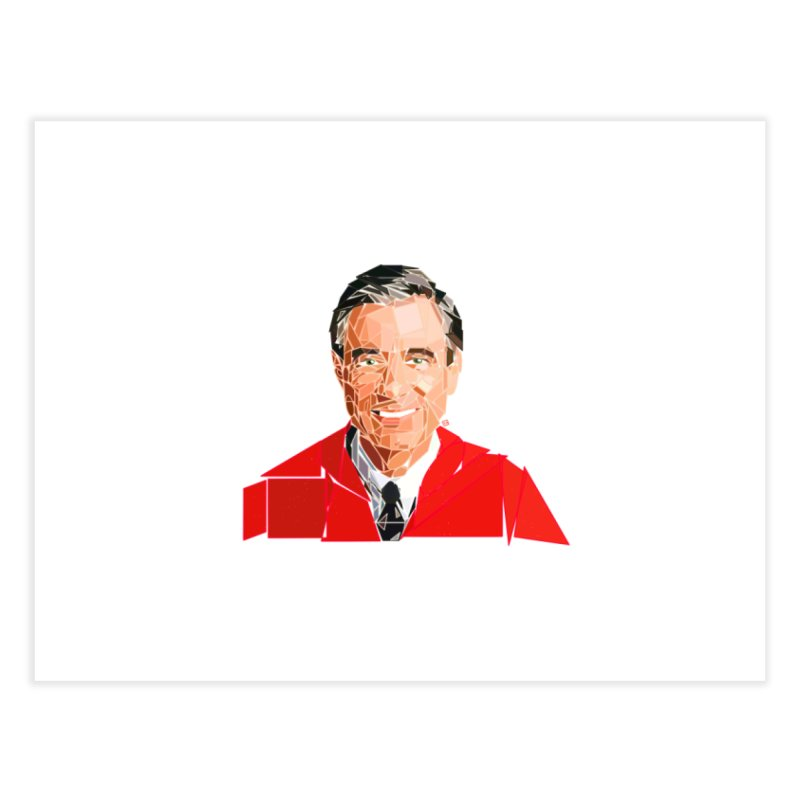 Geometric Mister Rogers Home Fine Art Print by ernio's art Shop ⓔ