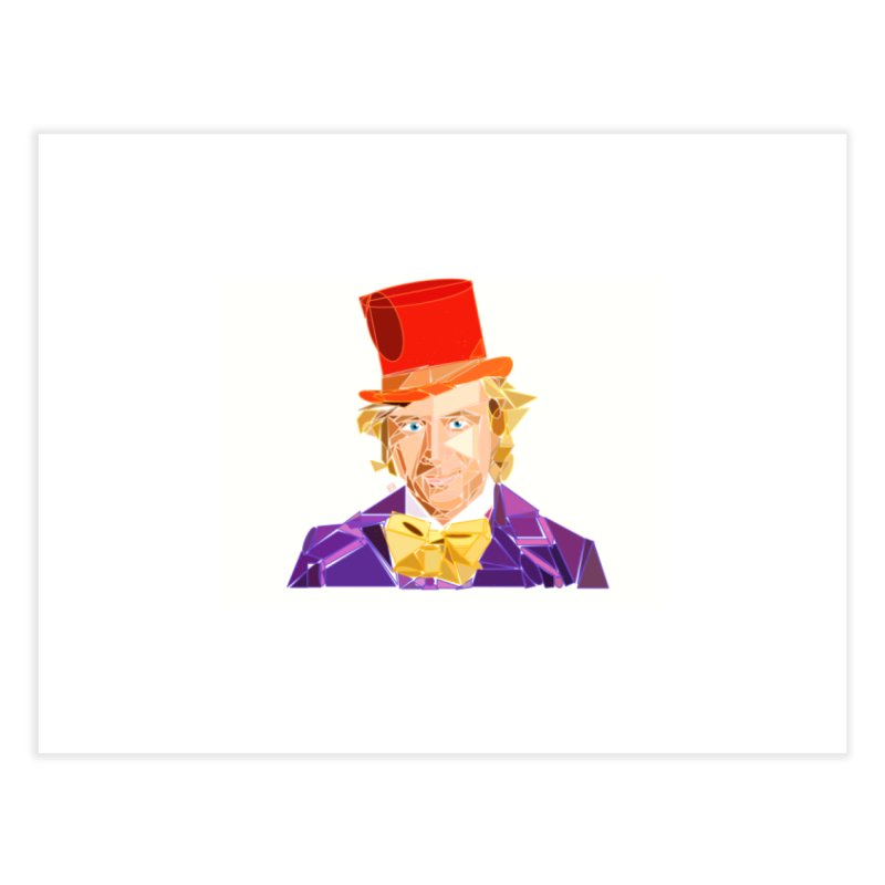 Geometric Gene Wilder (as Willy Wonka) Home Fine Art Print by ernio's art Shop ⓔ